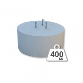 Peana de hormigón - 400 Kg.