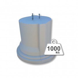 Peana de hormigón - 1000 Kg.