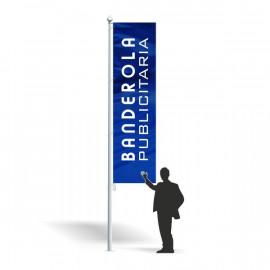Banderola publicitaria 80 x 350 cm.