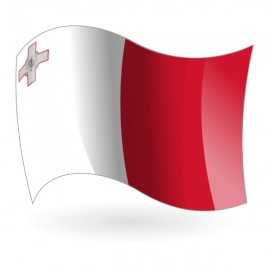Bandera de la República de Malta