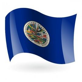 Bandera de la OEA ( Organización de los Estados Americanos )