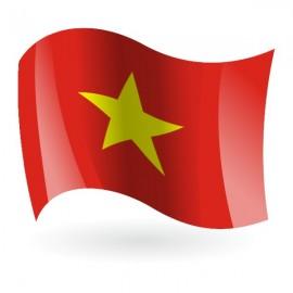 Bandera de la República Socialista de Vietnam
