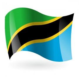Bandera de la República Unida de Tanzania