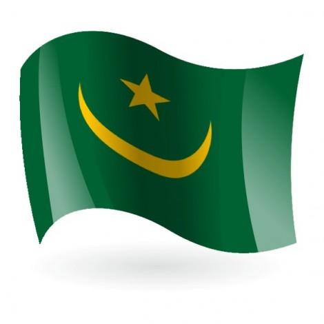 Bandera de la República Islámica de Mauritania